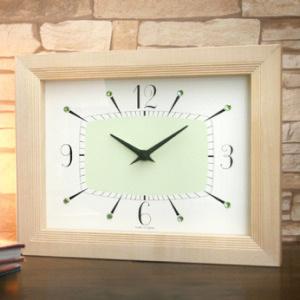 シャイニークロック/NT ナチュラル(壁掛け・置き型共用時計)