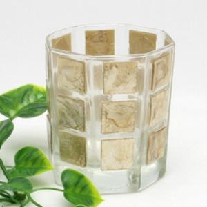 ガラス キャンドルホルダー