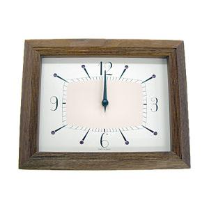 シャイニークロック/BR ブラウン(壁掛け・置き型共用時計)